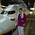 我與超豪華的新幹線列車合影