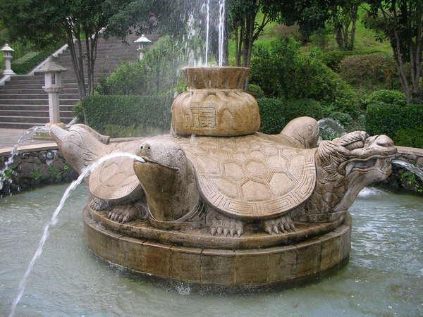 祈福許願的噴泉