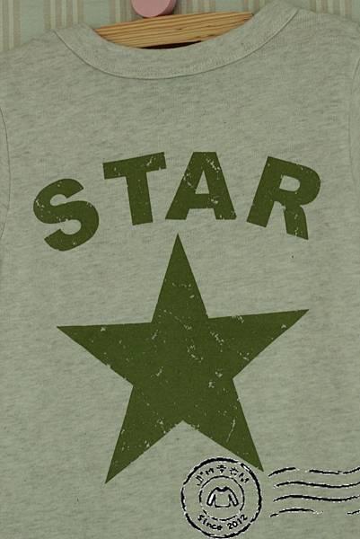 C0008星星口袋短T