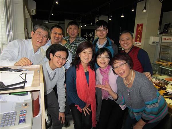 高樹榮伉儷暨貴賓在小林日式料理店(2014.2.4)IMG_1294