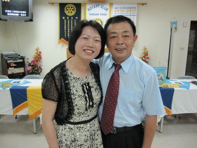 夫妻檔-大漢溪扶輪社陳介東前社長(2010.7.8)IMG_0428.JPG