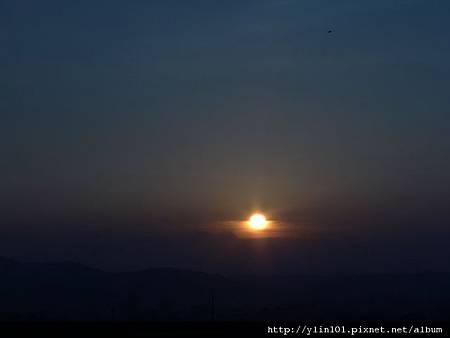 夕陽_藍調