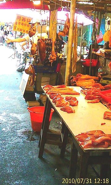 傳統市場_豬肉攤