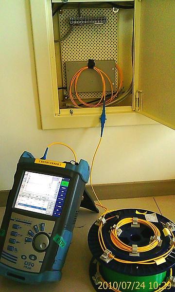 中華電信-測試SFU到樓道間光纖信號衰減_1