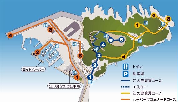 Enoshima map