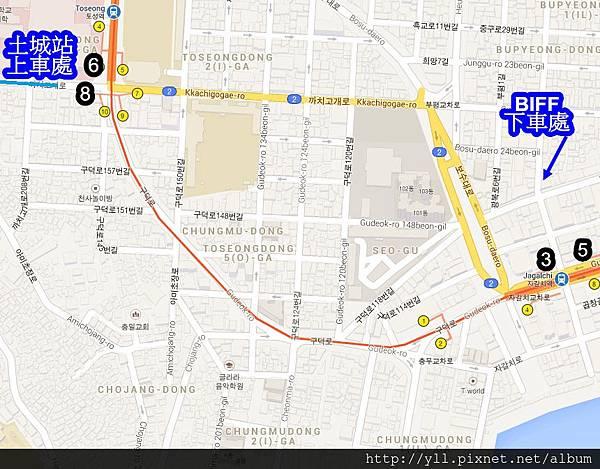 甘川洞文化村交通地圖
