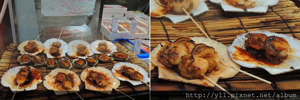黑門市場美食 烤干貝