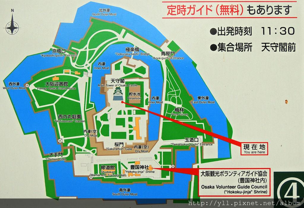 大阪城地圖