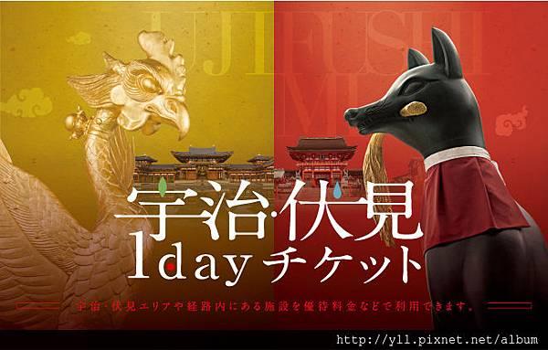 京阪 宇治伏見 1 day pass