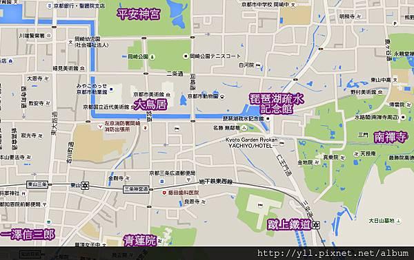 平安神宮周邊地圖