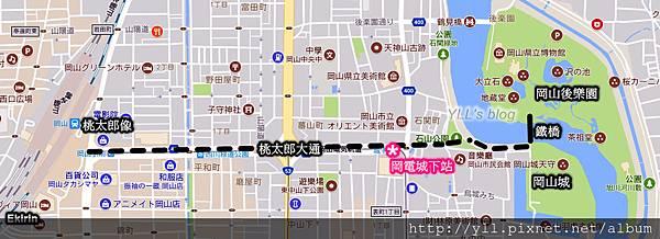 日本岡山市地圖