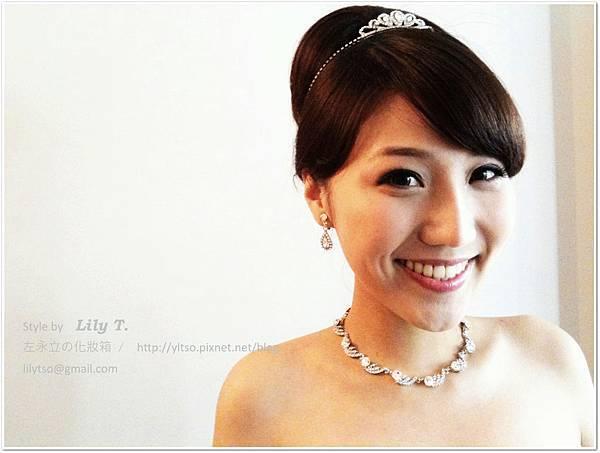 白紗宴客造型 bridal hair and makeup