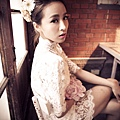 台北新娘秘書左永立Lily 整體時尚彩妝造型 新娘化妝造型 自助婚紗造型 法式風格婚紗 編髮造型 新娘蕾絲白紗典雅造型