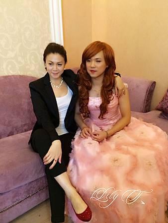 台北新娘秘書Lily左永立 新娘典雅白紗造型 韓風新娘造型