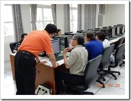 圖5.數位果子程經理一對一指導教學