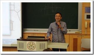 圖10.「台灣大學校園綠建築之博雅教學館」講座熊老師