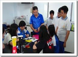106年6月1日光電磁力暨物理實驗動手做活動,地點楊梅高中。