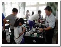 106年7月3日生物水質檢測微生物理論介紹及實務操作,地點楊梅高中。