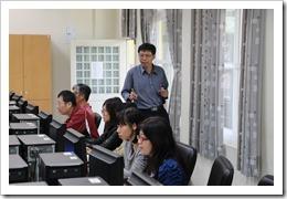 施主任在教學過程中了解學員實際作業狀況