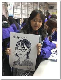 楊梅高中同學陳果展示