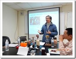 劉教授介紹生物資訊系所及未來展望