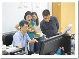 06-106年11月7日施主任課後指導,參加的職員非常驚訝電腦竟有此功能