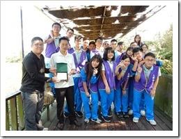 105年12月9日與區內中華大學合作辦理在地埤塘課程交流與共享活動,地點:高榮地區埤塘