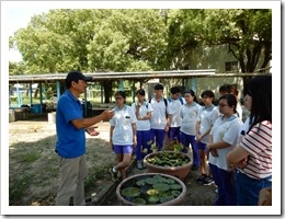 106年7月4日生態導覽及在地埤塘特色課程,地點:善水草堂