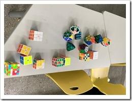 許技江老師展示的各類型魔術方塊
