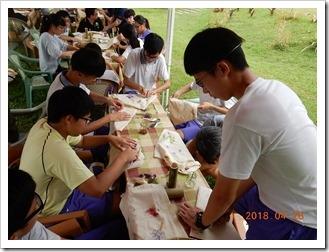 1070428同學天然素材美術顏料創作