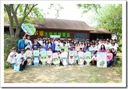1070429本校師生於水雉園區合影,為此活動作見證