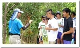1070429於水雉園區聽取水生植物解說