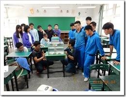 現場展示介紹各種不同的台灣原生魚類蝦虎