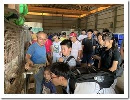 弘鼎公司徐先生介紹蚯蚓糞土在室內養雞無臭味的功效