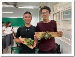 2.學員木頭鑲肉研習成果