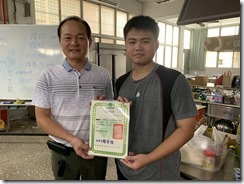 楊梅區農會周總幹事頒發結訓證書1