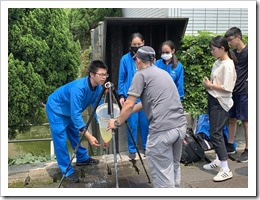 04-於幼獅工業區放流池實施微生物及藻類採樣