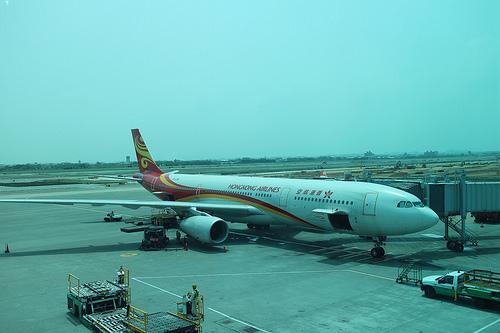HK。香港航空飛機