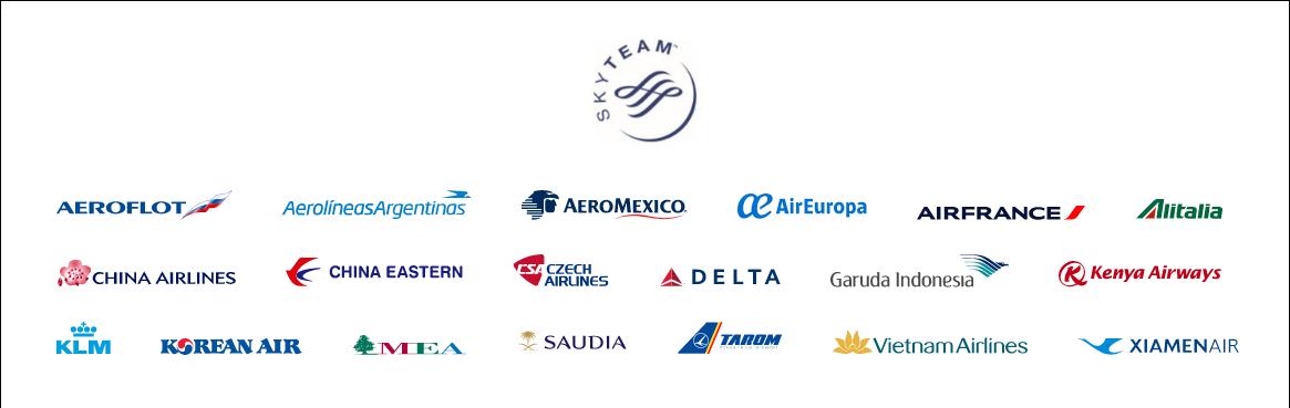 天合聯盟 SkyTeam 所有會員 2020