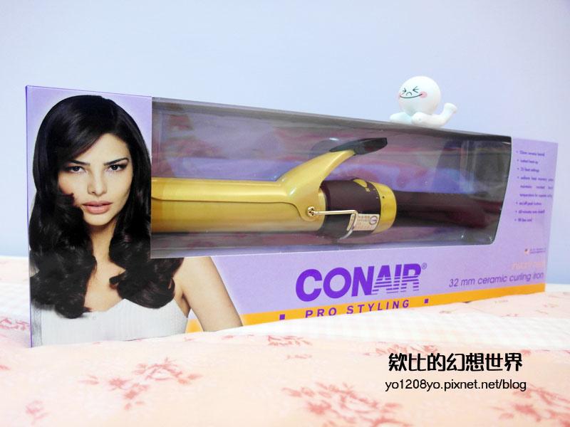 86小舖!CONAIR 康尼爾 金色陶瓷快熱電棒捲燙捲髮夾32mm (1).jpg