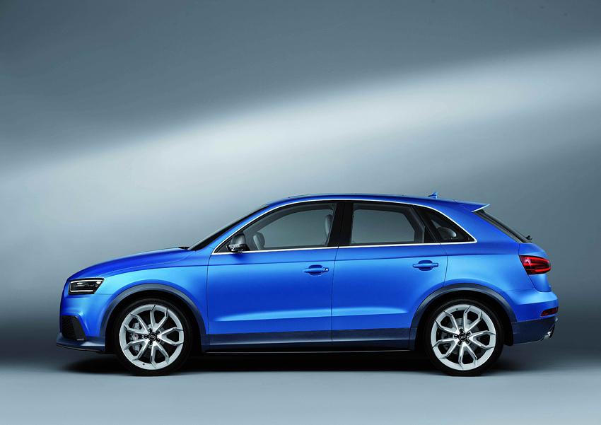 02 Audi RS Q3 Concept身披以鄂爾多斯無盡浩瀚的天空藍(Ordos Blue),作為極致動能的特殊象徵,更充分彰顯其與Audi RS高性能車系之優良血脈系出同源的身分!