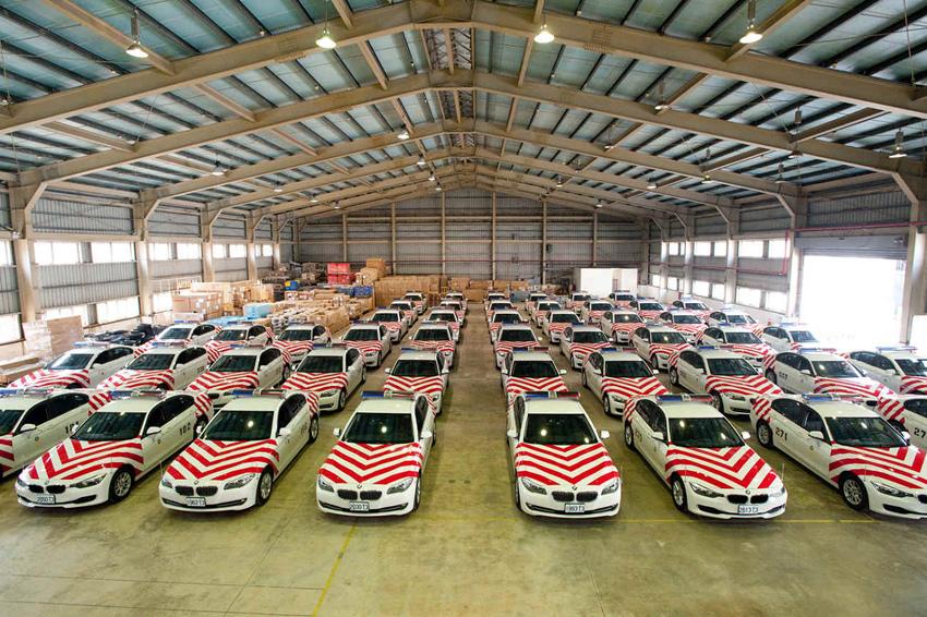 【新聞照片一】BMW總代理汎德公司再交國道巡邏車予內政部警政署