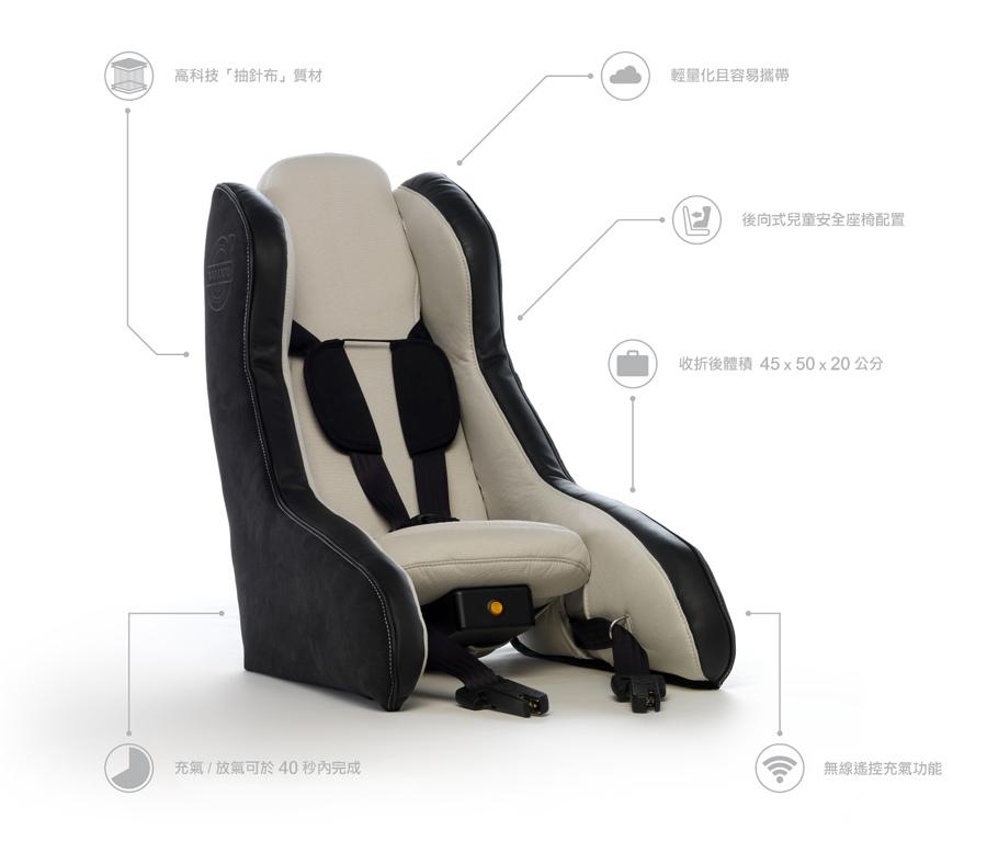 01:VOLVO 發表極具前瞻概念的充氣式概念兒童安全座椅,其充氣式的設計驚豔全球。.jpeg