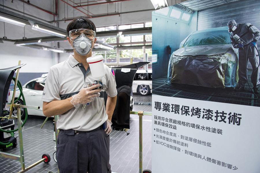 【新聞照片七】BMW總代理汎德公司服務廠採用同步BMW原廠規格且符合環保的專業烤漆技術與塗料.jpg