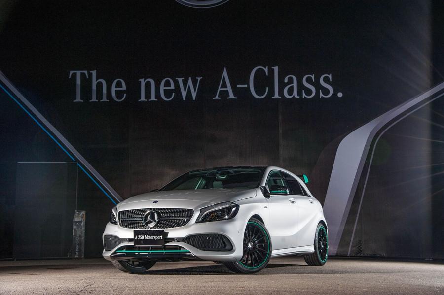 全新A-Class 推出Motorsport Edition 套件,以F1賽車petrol green色系元素貫穿視覺的特仕套件.jpg