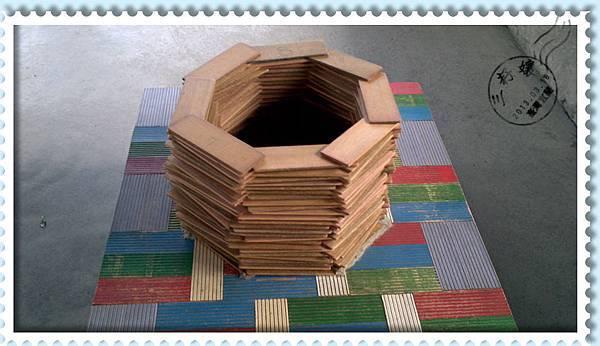 玉兔鉛筆學校體能課-堆疊八角形鉛筆