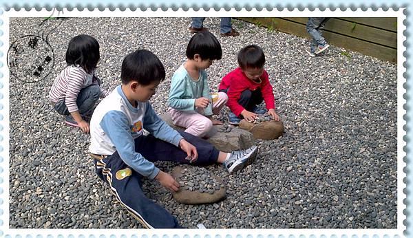 玉兔鉛筆學校內部玩石區
