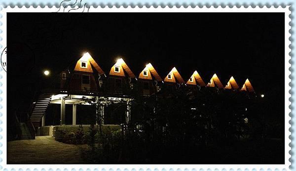 風箏小木屋外觀夜拍