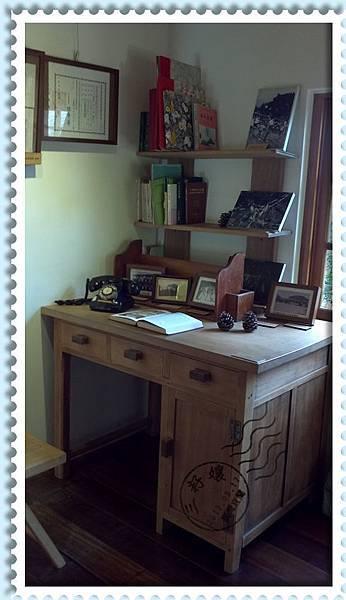 宜蘭羅東林業文化園區-原木辦公桌