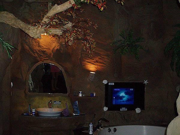 浴室有電視^^